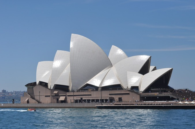 An architecture marvel and world landmark, the Opera House in Sydney, Australia.