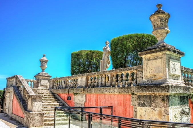 Vizcaya Gardens are beautifully manicured and it is worth taking the time to visit and admire the many sculptures.