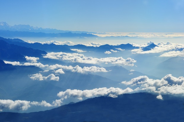 Aerial view of cloud and sky