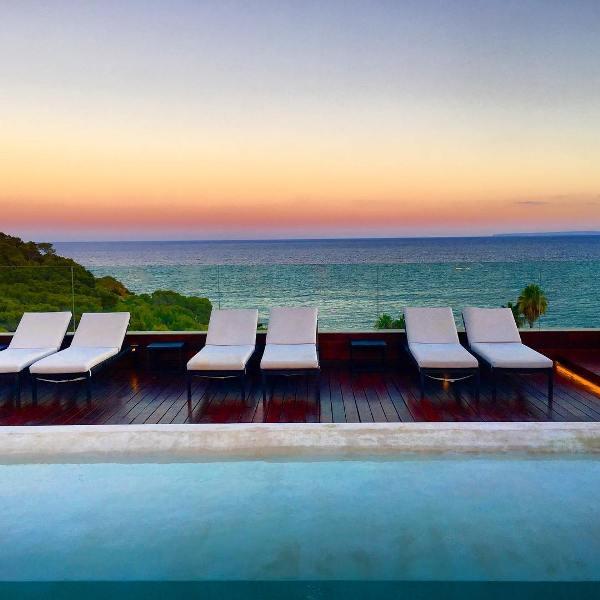 Pool at Aguas de Ibiza luxury hotel.