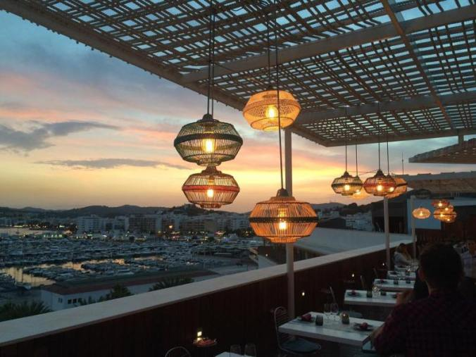 View from Aguas de Ibiza luxury hotel