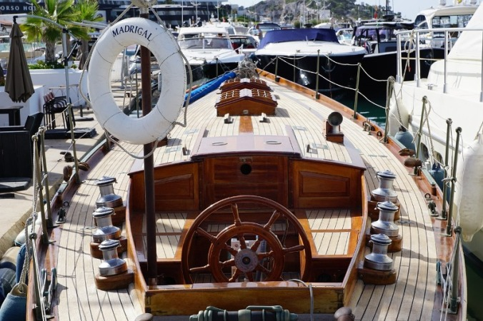 Sailing boat in ibiza