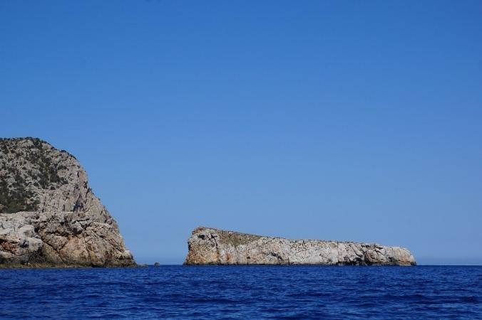 Rock islands near Ibiza.