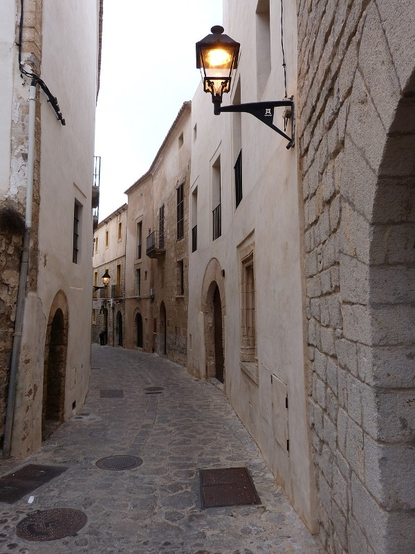 Street in Old Town, Ibiza.