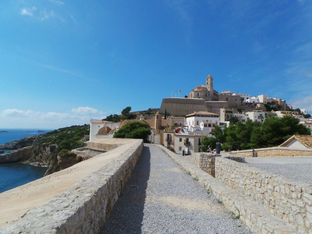 Walled city of Ibiza. View of Dalt Villa or up town Eivissa.