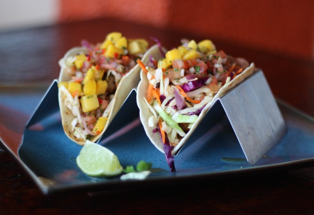 Let's taco 'bout it. When in Florida, eat some fresh fish and served up in tacos with the works? Even better! Yum.