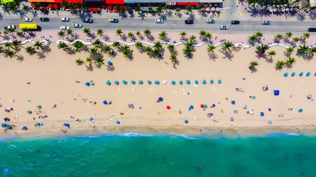 Life is always better at the beach. Fort Lauderdale, Florida seen from the air.