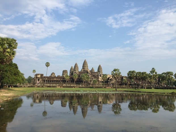 One of the world's most complex, historic and stunning architecture ruins, Angkor Wat in Cambodia.