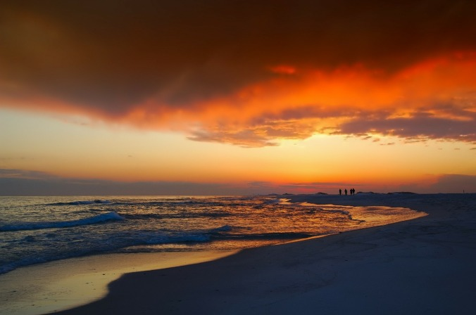 Fire in the sky. Admire the gorgeous sunsets at the end of the day in Florida.