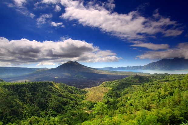 Connect with Mother Nature and recharge batteries at Mount Batur and Lake in Indonesia.
