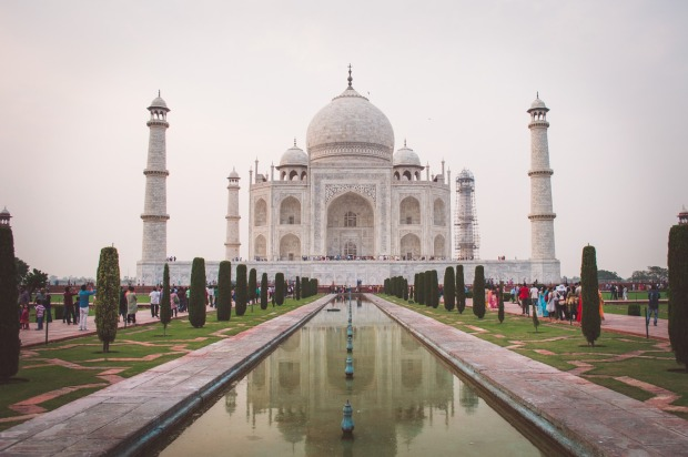 One of the most architecturally stunning buildings on earth, the one and only Taj Mahal in Agra, India.