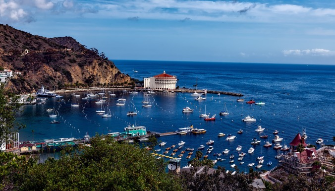 View of Catalina Island in California, USA