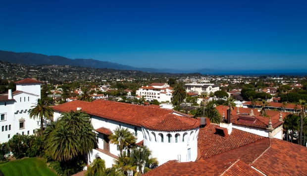 View of Santa Barbara, California, USA