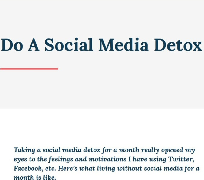 Overwhelmed by Social Media? Then do a 30 Day Social Media Detox. Yes, it is possible!