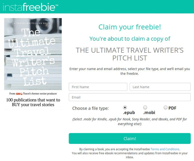 Love travel? Love to write? Want to sell your travel writing? Then sign up to receive The Ultimate Travel Writer's Pitch List!