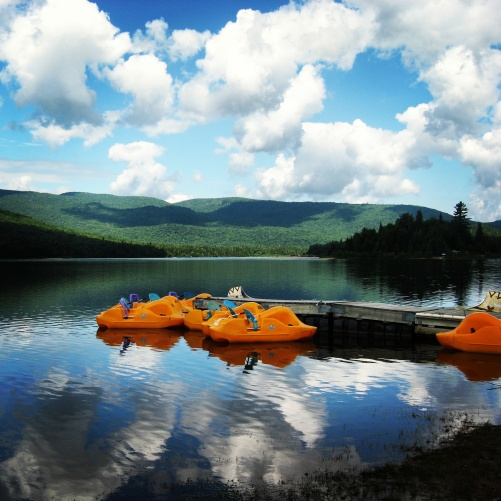 The mountainous area of the Laurentians, north of Montreal, is a great place to spend the day resting and relaxing.