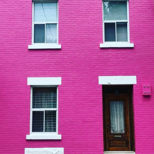 Pretty in pink! Bold, colorful and vibrant colored building.