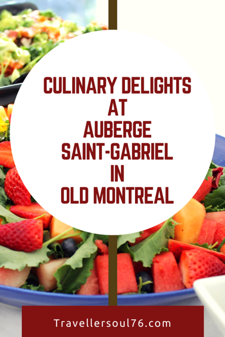 Visiting Montreal? Looking for fresh, delicious, nutrious food and sit in a charming and historic restaurant? Then come try the Culinary Delights at Auberge Saint-Gabriel in Old Montreal. Here's a preview.
