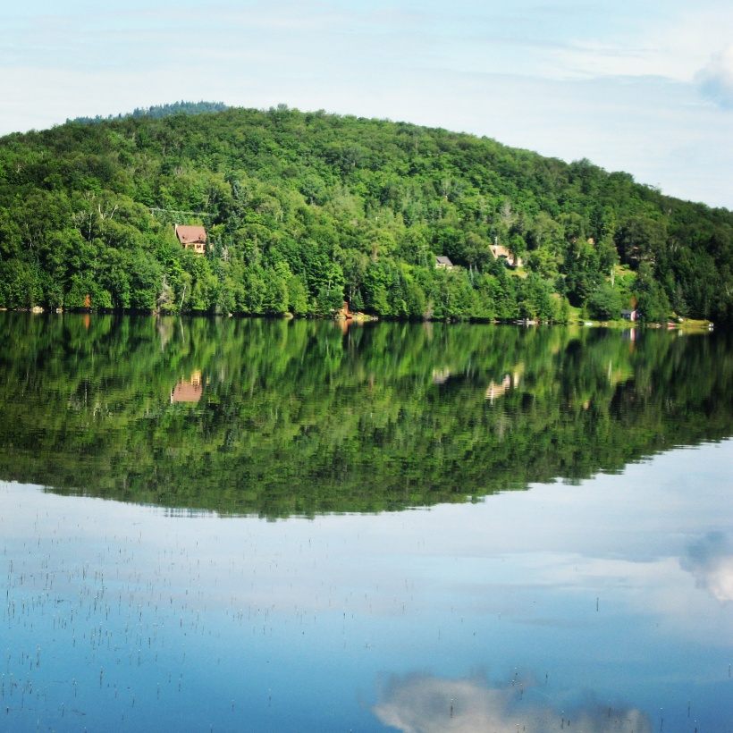Lac Superieur Lake in the Laurentians, Quebec, Canada.