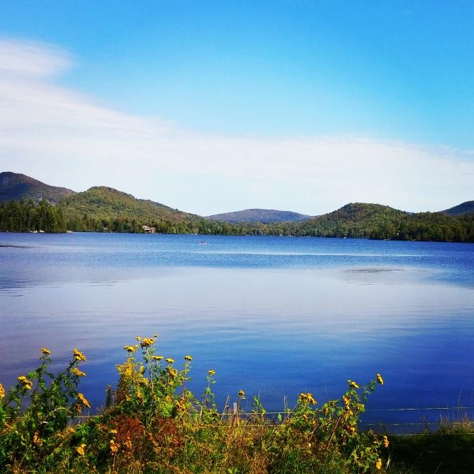 Superior Lake, Lac Supérieur in St-Faustin-Lac Carré, Laurentides, Laurentians, Quebec, Canada