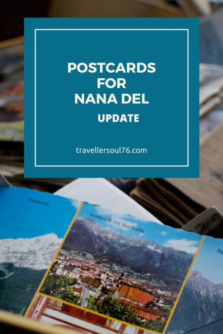 Postcards for Nana Del Update. Learn more about this very special Nana in Australia and how a postcard can bring a smile to her face during this difficult situation she's going through.