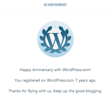 Wordpress, wordpress anniversary notification