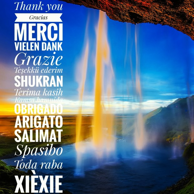 Thank you in many languages. From English to Chinese, there are many ways to give thanks :)