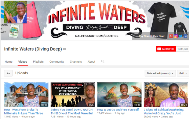 Looking for some inspiration, answer to life's questions and get an energy boost on a daily basis? Check out Infinite Waters with Ralph Smart on Youtube #inspiration #motivation #deepdivers #infinitewaters #youtube