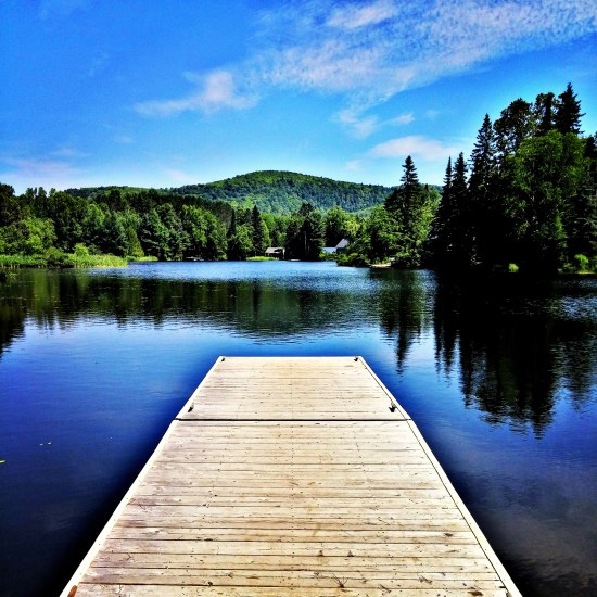 Fabulous summer day at Lac Saguay in the Laurentians, Quebec. #photography #travel #travelblog