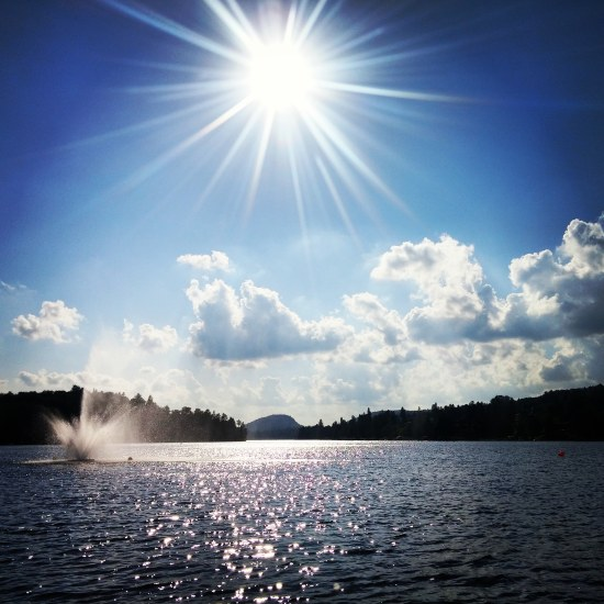 Sunny day by the lake in the Laurentians, Quebec. #travelblog #blog #photography #travel