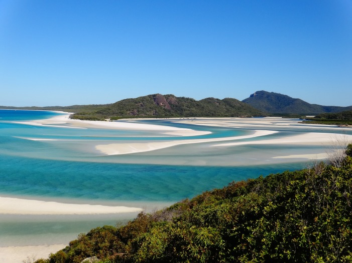 Do you believe heaven on earth exists? Well it does and has an address! Whitehaven beach is truly heavenly and incredibly stunning with its pristine waters and dazzling soft white sand. A definite must add to your #bucketlist .  #travel #australia #whitehavenbeach #queensland #travelphotography