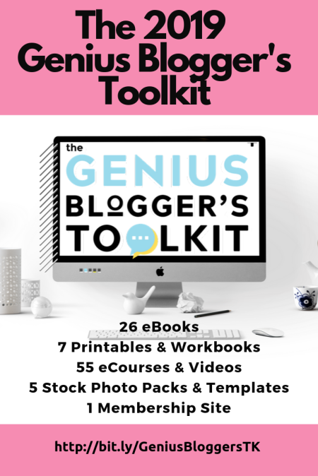 2019 Genius Blogger's ToolKit_Bundle. Want to start or grow your blog, monetize and learn the best and latest blogging tips to work online? The Genius Blogger's Toolkit 2019 is a value-packed bundle offers over 94 products that teach you everything you need to know in order to become a successful blogging professional! Available for a limited time only. Check it out! #blogging #bloggingtips #bloggers #bloggingforbeginners #bloggingforbusiness #bloggers #afflink #affiliate