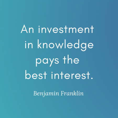 An investment in knowledge pays the best interest. Such a great and true quote by Benjamin Franklin. Investing in your education will always pay back in many ways! #quote #quotestoliveby #qotd #motivationalquote #educationalquote #inspirationalquote #inspirationquote