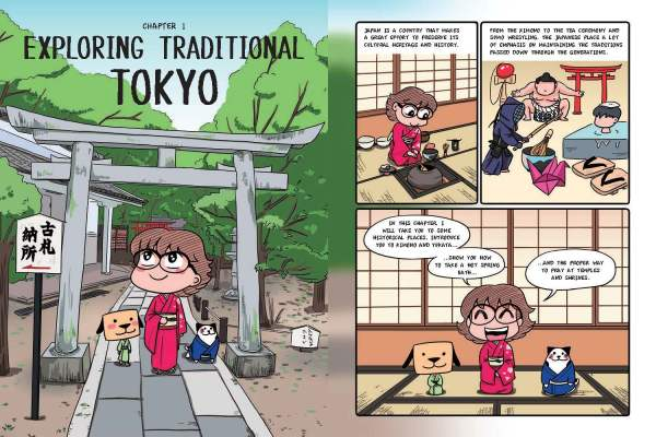 Manga Lover's Tokyo's Travel Guide_Page 08. Come explore Traditional Tokyo thanks to Eveline Neo's manga travel guide! Read more about it in this blog post! #Tokyo #Japan #travel #travelguide #book #bookreview #bookblogger #bookreviewer #travelblogger #travelinspires #bucketlist #wanderlust