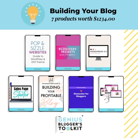 Need help to build your blog? Here are some of the useful and valuable resources found in the The Genius Blogger Toolkit 2019 bundle! #bloggingtips #bloggingforbeginners #bloggingforbusiness #bloggers #howto #startablog #growyourblog