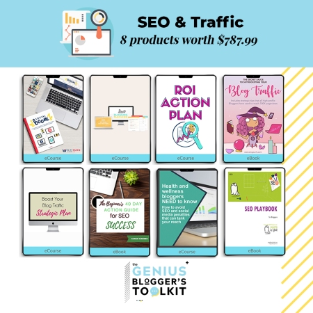 Do you want to learn more about SEO, Search Engine Optimization, use it properly in order to grow your blog traffic? These incredible products are rich in information, offer tried and tested SEO tips and tricks and will help you drive traffic back to your website. Offered in The Genius Blogger's Toolkit 2019 bundle! #SEO #SEOforblogging #bloggingtips #bloggingforbeginners #bloggingforbusiness #bloggers #growyourblog #socialmedia #socialmediatips #growthhacks #drivetraffic #afflink #affiliate