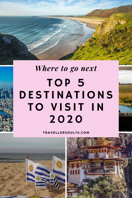 Wondering Where To Go Next? Here are the Top 5 Destinations To Visit in 2020.  #travel #bucketlist #travelblog